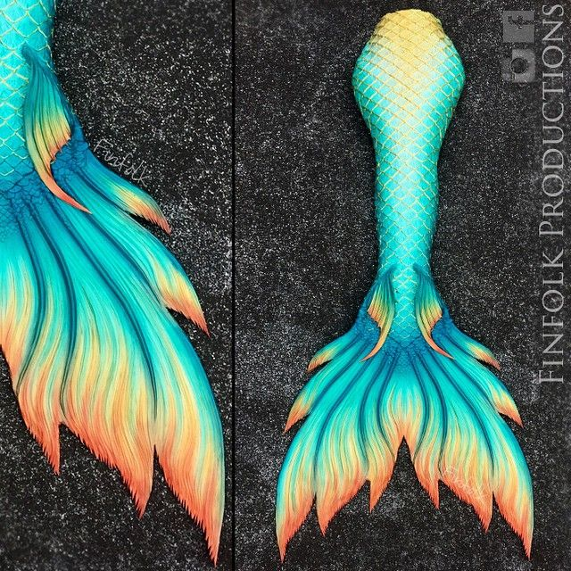 I've decided this is the EXACT tail I'm getting from fin folk productions. It's beautiful.