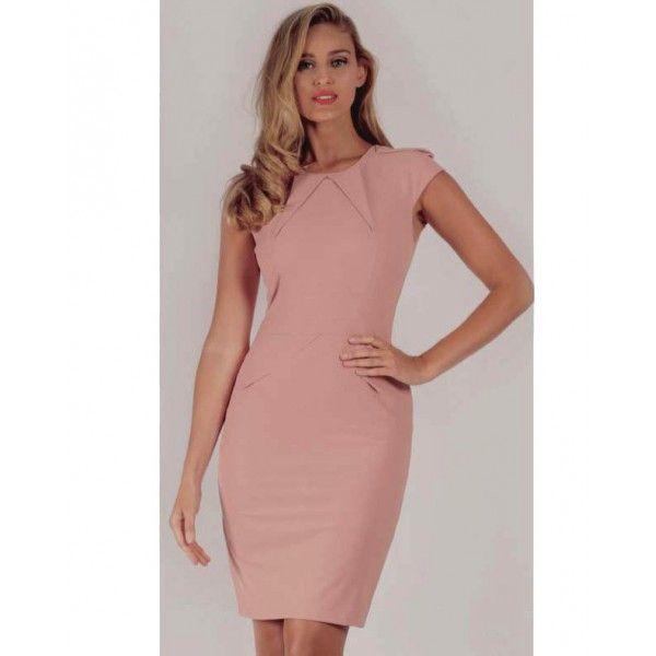 Ika Dusty Pink Creative Career Dress
