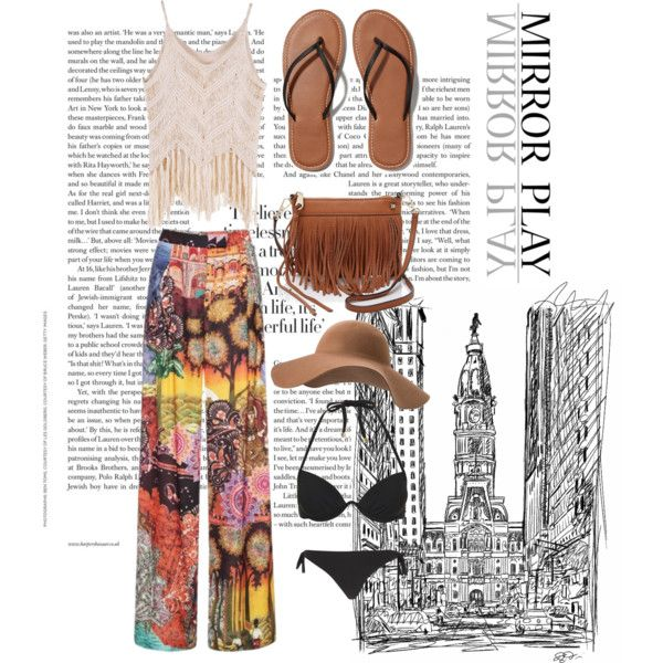 A fashion look from March 2015 featuring Stella Jean pants, Topshop bikinis and River Island bikinis. Browse and shop related looks.