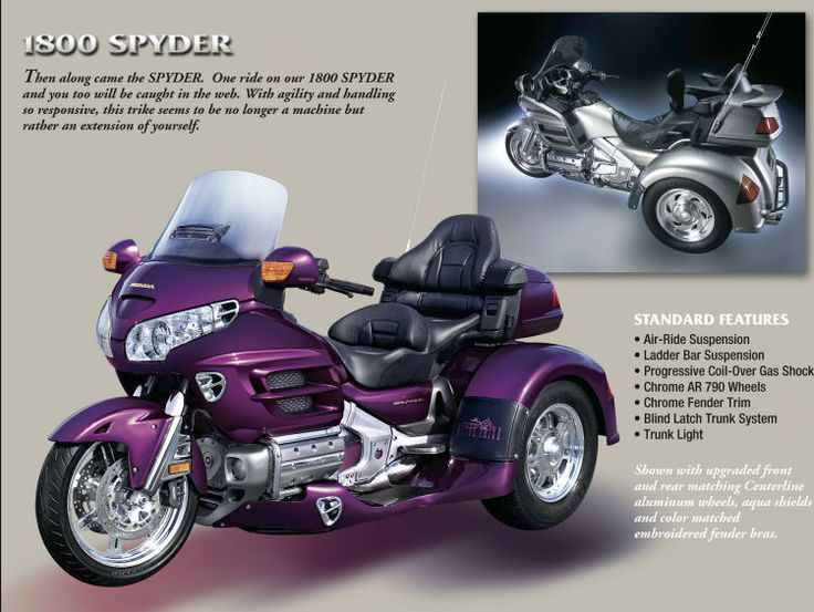 honda trike motorcycles | gl 1800 spyder | love this | pinterest