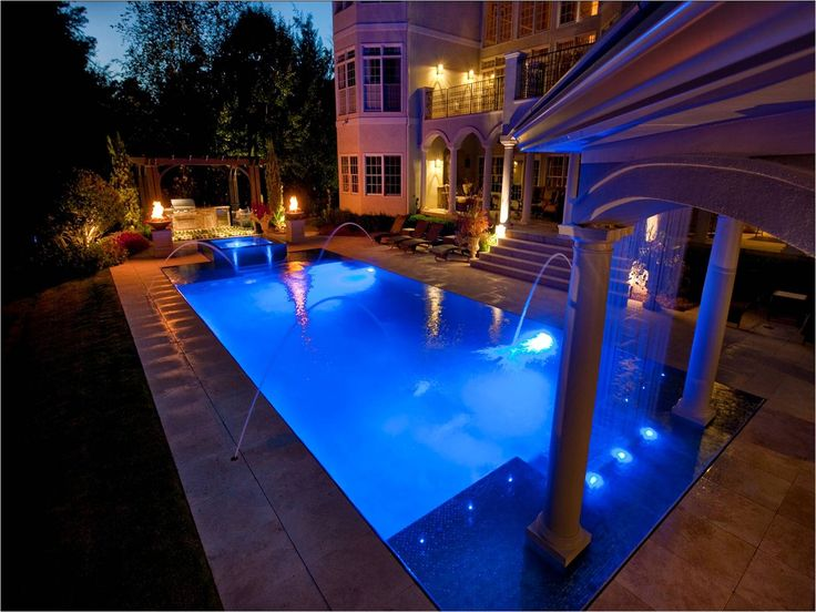 Best Luxurious House With Overflowing Swimming Pool Images On