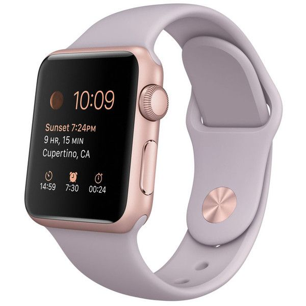 Women's Apple Watch ($200) ❤ liked on Polyvore featuring jewelry, watches, jewelry & watches, rose gold, women's watches, apple wrist watch, sport watches, red gold jewelry, rose gold watches and sports jewelry