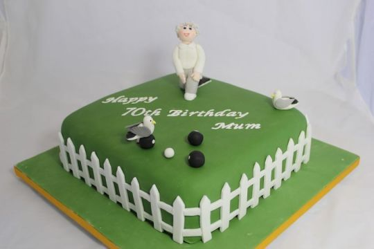 Lawn Bowling Cake Decorations