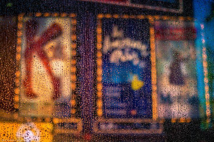 NY Rain by Bjorn Christian Finbraten on 500px  24x7photo.com, urban, America, NYC, New York, Times Square, USA, United States, black, city, evening, light, lights, United States of America, neon, neon lights, night, NY