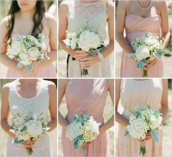 peony and daisy wedding bouquets by Love This Day Events