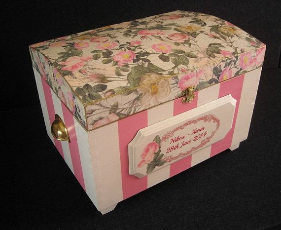 Bespoke Wedding Keepsake Chest by HandmadeByFiona on Etsy, $123.00