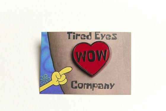 Image of Spongebob WOW Heart pin (hard enamel)