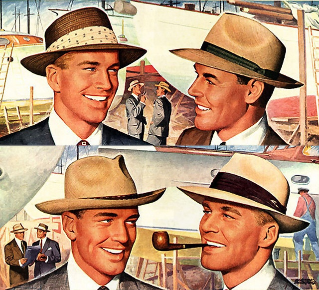 mens hats from the 20s and 30s meet