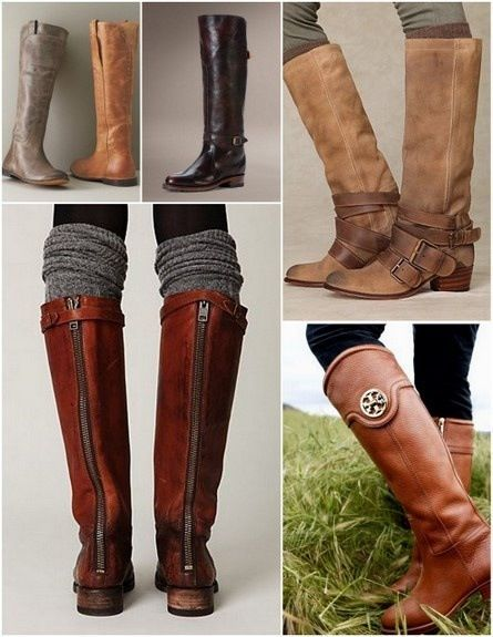 Riding Boots Brown Fall Winter Mens Snow