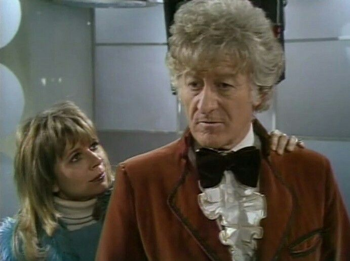 The Doctor and companion Jo Grant (Katy Manning) - The Three Doctors (1973)