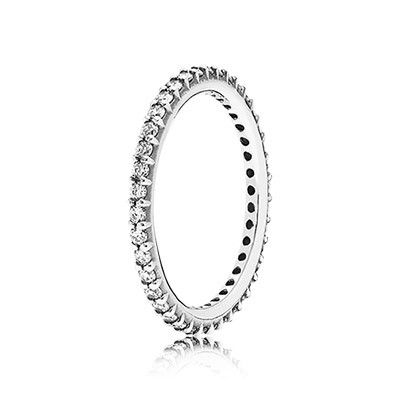 PANDORA | Forever, clear cz. Michaels birthstone, $45.00 at Pandora store. It has been discontinued but a lot of stores still have it! It will go with Christopher and Jennifer's stone rings!
