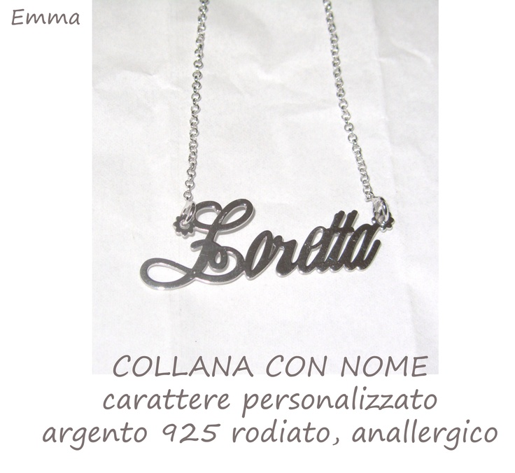 https://www.facebook.com/collanaconnome    collane con nome  in argento 925