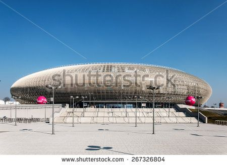 CRACOW, POLAND - MARCH 23, 2015: Tauron Arena in Krakow. Modern entertainment and sports venue. The biggest one in Poland.