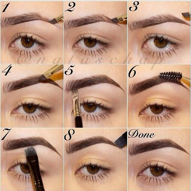 Brow Routine by @nataschap   She is using Dipbrow pomade in Ebony. Thank you Natascha   It might seem like a lot of steps, but it's a detailed step by step instruction on how to fill brows in, and apply concealer along the arch to clean up the area.  No waxing or tweezing, just filling in.  For those of you that want more instruction on how to create the line, this might help!  #anastasiabeverlyhills #anastasiabrows #dipbrow #tutorial #brows #makeup