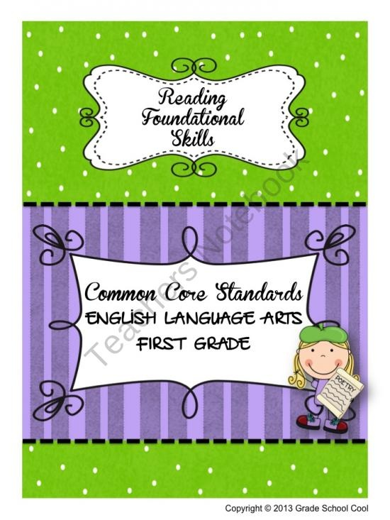 Common Core ELA Assessments Grade 1 (Reading Foundational Skills) from Grade School Cool on TeachersNotebook.com (42 pages)  - Common Core ELA Assessments Grade 1 (Reading Foundational Skills)