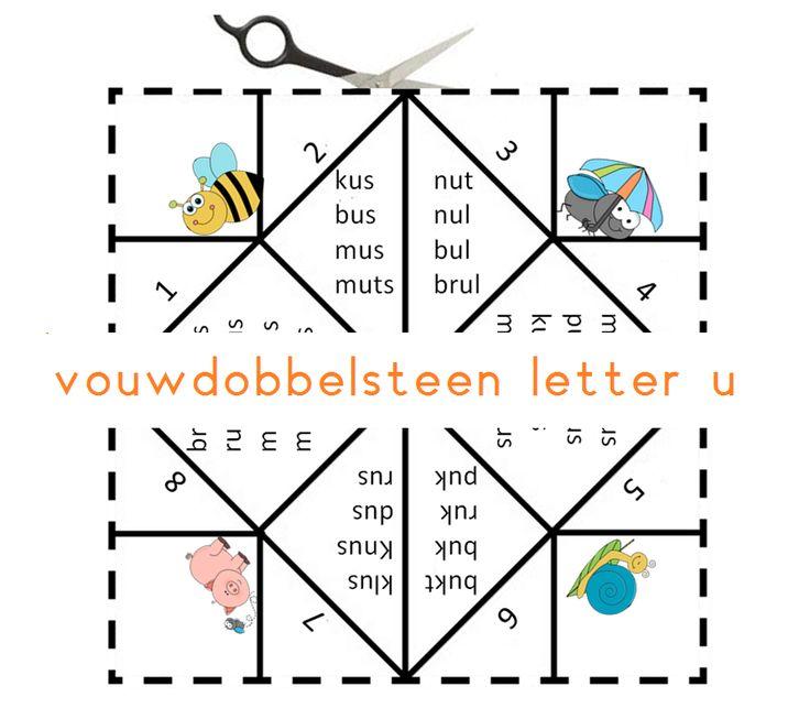 Vouwdobbelsteen letter u