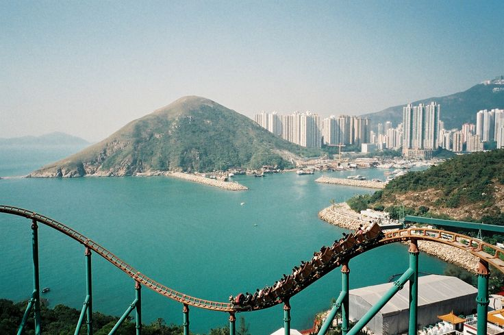 In Hong Kong- best part of the ride is the view.