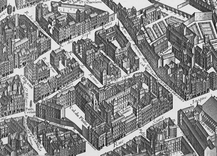 Collège de Lisieux and Collège du Plessis, Turgot map of Paris - Impasse Chartière — Wikipédia