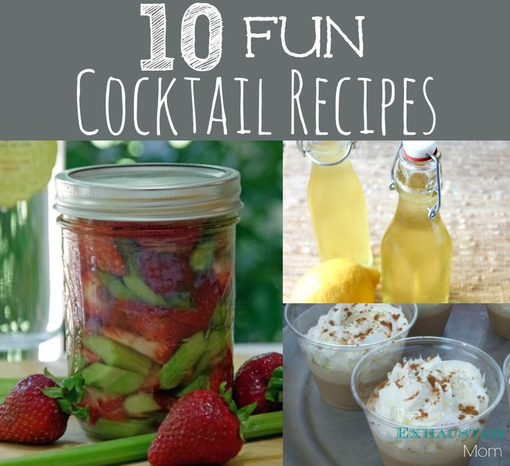 Ready for the weekend time for 10 fun cocktail recipes for Fun alcoholic drink recipes