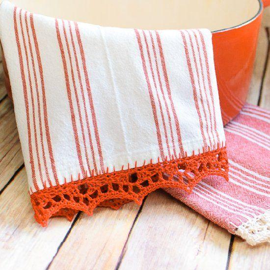 Crochet Edged Tea Towels