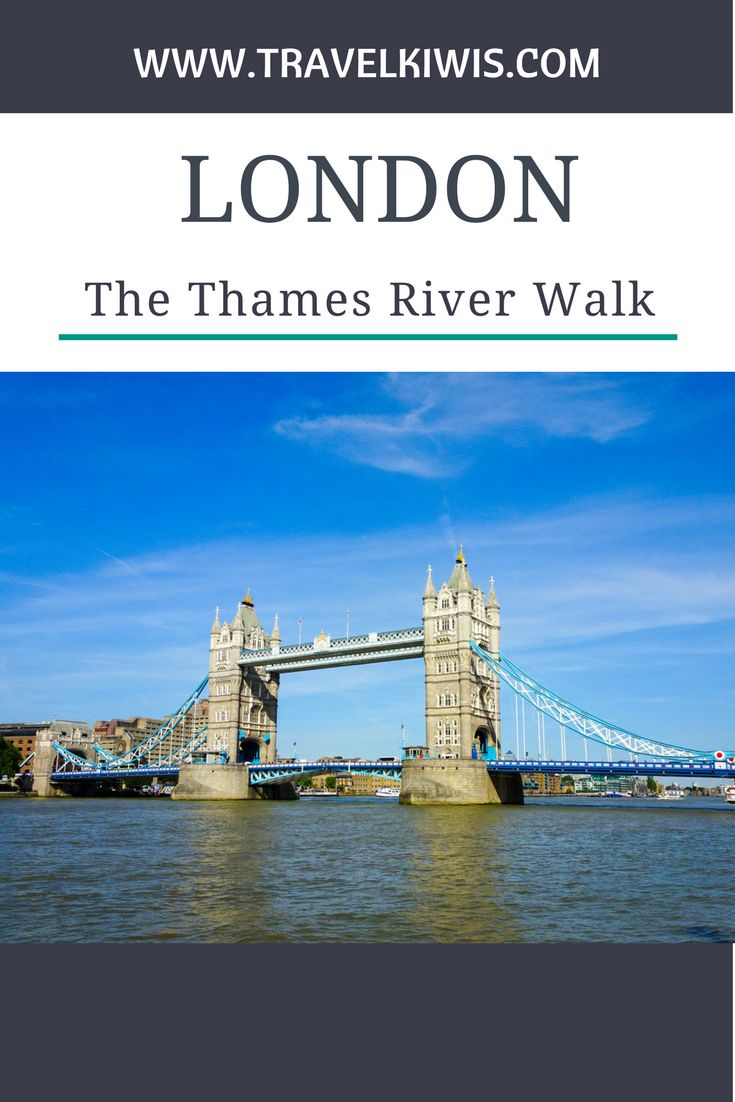 The Thames River Walk from Westminster Bridge to Tower Bridge is around 4km one way. Monuments, attractions, cafes and stunning architecture line the walk.