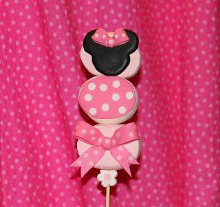 Flore Cakes: Paletas de Bombón de la Ratona Mimi - Minnie Mouse Marshmallow Kabobs