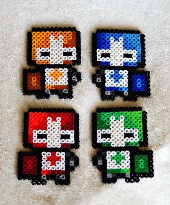 Castle Crashers Knight Perler Bead Sprites by SuperOnigiriDesigns