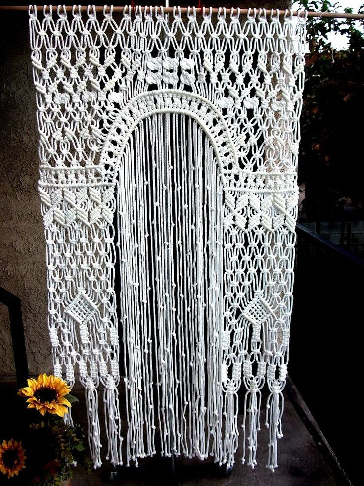 Wedding Curtain Quot Arch Quot Unique Handmade Macrame White