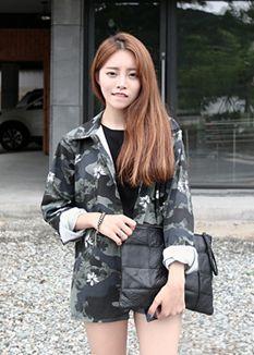 미니뽕 minibbong 카모플라쥬 자켓 jacket