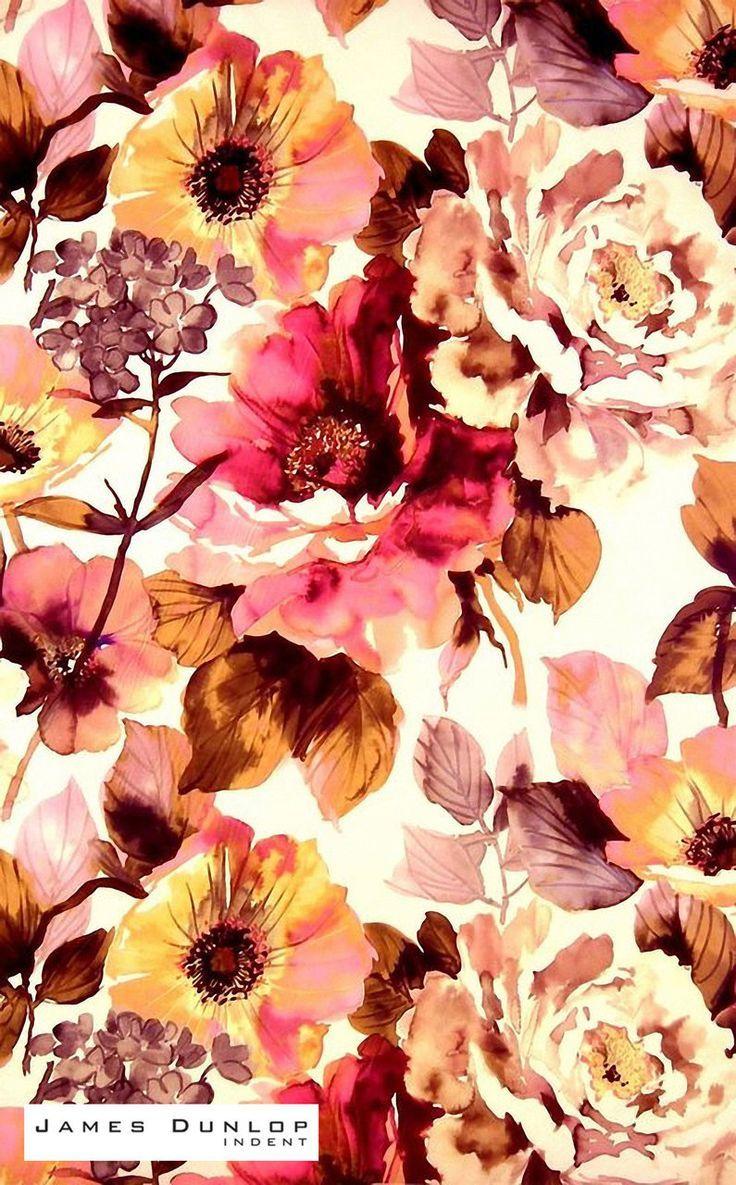 James Dunlop Indent Gardenia Antique Iphone Wallpaper Fall Fall Wallpaper Floral Background