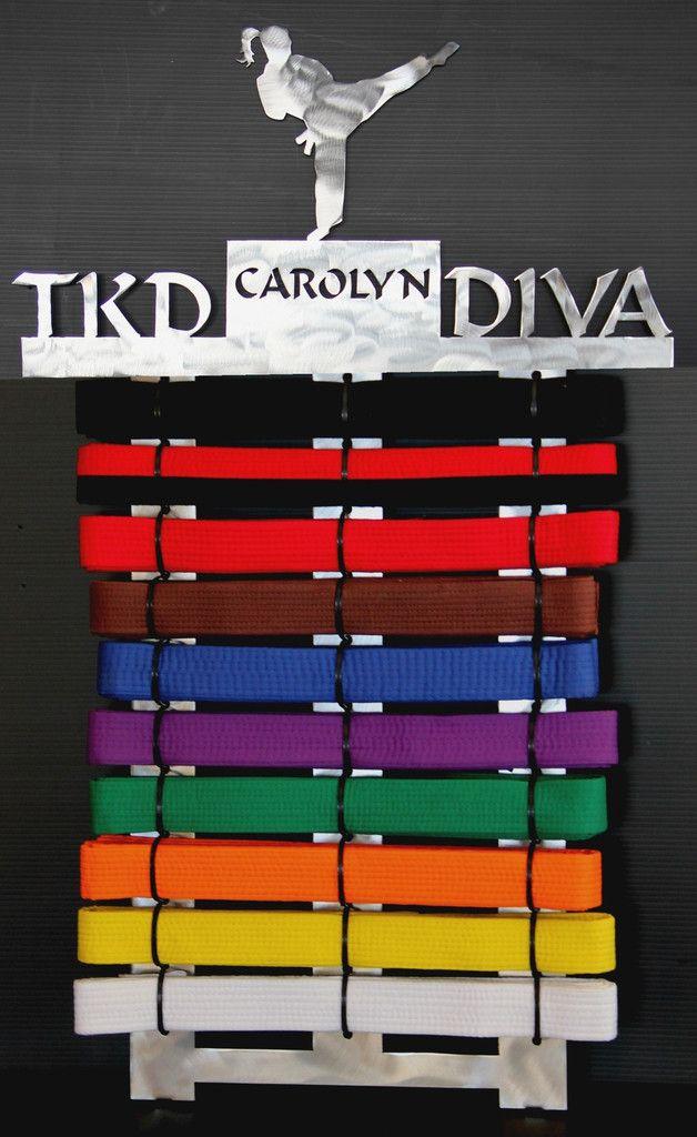 Tae Kwon Do Belt display 10 level