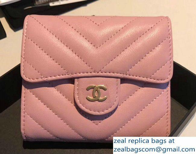 ae6331e5f4511a Chanel Chevron Small Flap Wallet Pink 2018 | Luxury Wishlist in 2019 ...