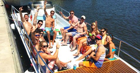 Come celebrate on a party barge in downtown Charleston, SC! Holds up to 20 passengers! Charleston Wedding, Bachelor Parties, Bachelorette Parties, Charleston Group Events, Charleston Water, Hydrofly Watersports, Things to do in Charleston SC