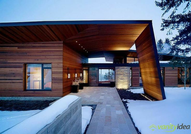 winter view house design