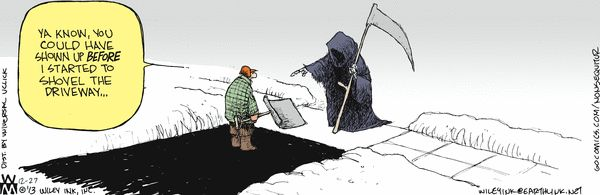 After shoveling 10 inches off the driveway, I sympathize.