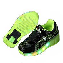 Kinderen Heelys Roller Schoenen Jongen & Meisje Automatische LED Verlichte Knipperende Rolschaatsen Kids Fashion Sneakers Met Wiel(China (Mainland))