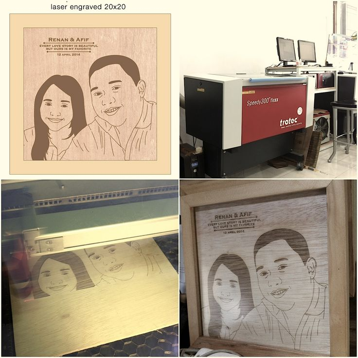 The making process of laser engraved wall decor
