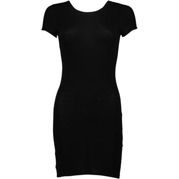 Boohoo Petite Roxy Cap Sleeve Mini Bodycon Dress | Boohoo ($10) ❤ liked on Polyvore featuring dresses, bodycon cocktail dress, petite bodycon dresses, short cap sleeve dress, petite dresses and body conscious dress
