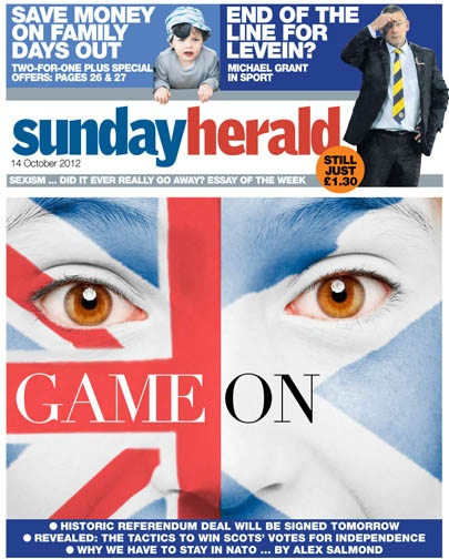 This week's @newsundayherald front page