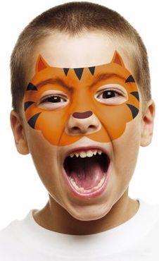 Pochoirs visage, petit garçon, masque, mardi-gras, déguisement, maquillage, création, carnaval, déguiser, La fabrique du canari