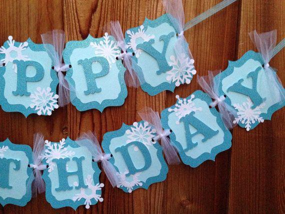 DIY Frozen birthday banner por CelebrationBanner en Etsy