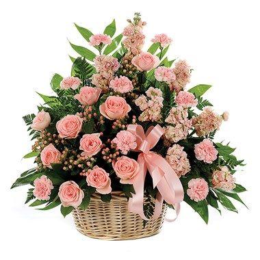 Classic sympathy basket flower arrangements (BF191-11KL)