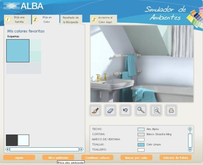 Programa para decorar simulando los ambientes: Los Ambientes, Ambient
