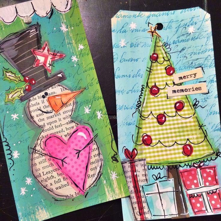 Original pinner sez: Starting my Christmas tags