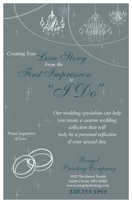 Create your custom wedding invites with Rengel Printing Company!  http://rengelprinting.com/