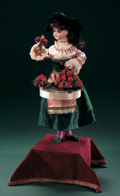 """French Musical Automaton """"Flower Seller with Surprise"""""""