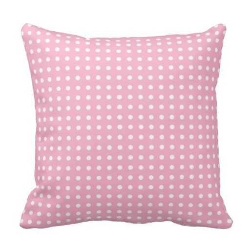 Pink with White Dots Cottage Chic Throw Pillows #shabbychic #decor #girly