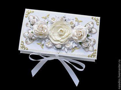 Свадебные открытки ручной работы. Ярмарка Мастеров - ручная работа. Купить Свадебная коробочка для денег. Handmade. Свадебная открытка
