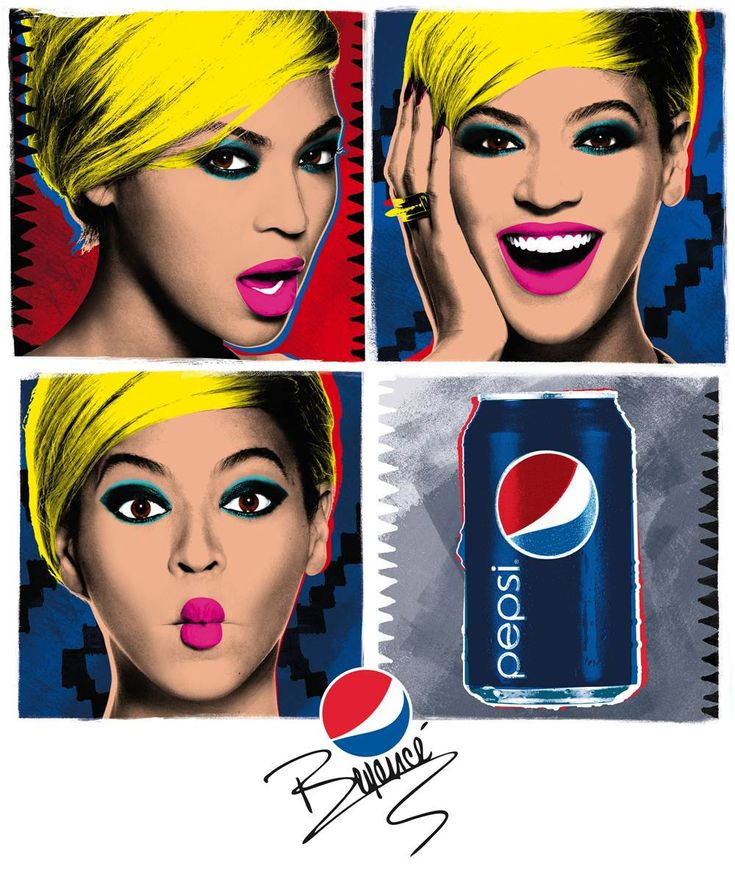 """Beyonce Pays Homage to Andy Warhol's Pop Art in Pepsi """"Live for NOW"""" Campaign Poster"""