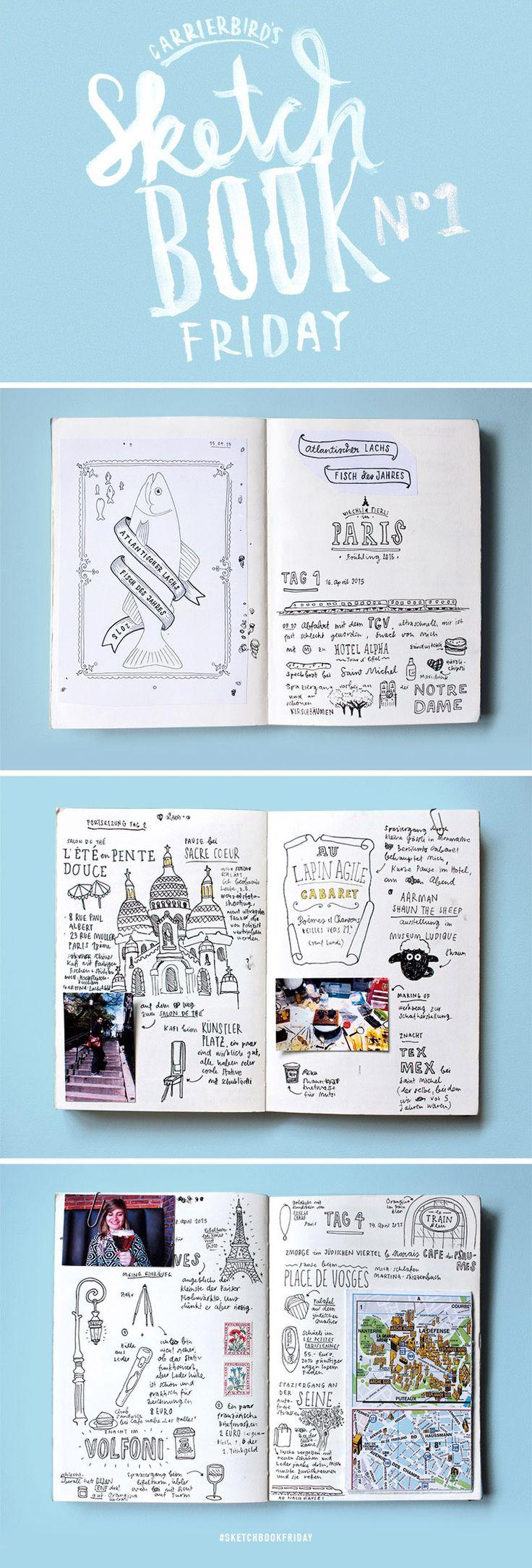 Carrier Bird's Sketchbookfriday No.01